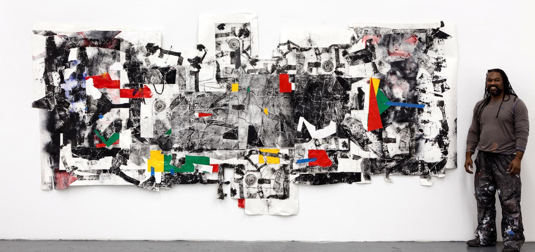 Artist Cullen Washington Jr and his work Agora 1