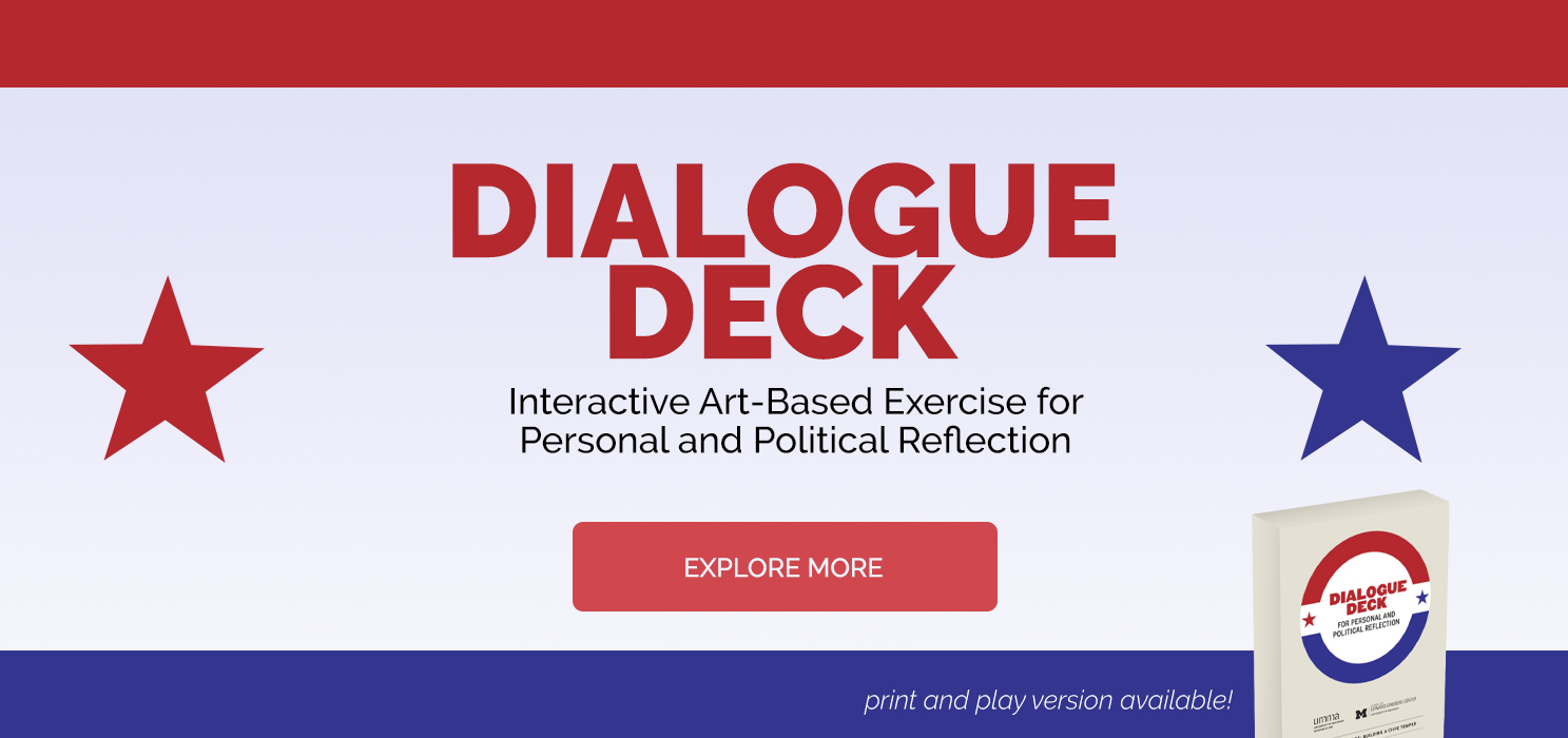 Dialogue Deck - An Art-based activity for personal and political reflection