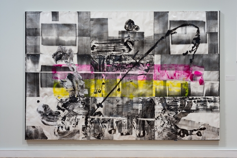 Agora 7 2018 Mixed media collage on canvas Courtesy the artist