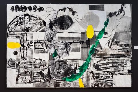 Agora 9 2019 Mixed media collage on canvas Courtesy the artist